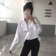 Long Sleeve Woman blouse shirt Ladies Pocket Shirt Women Casual Tops Elegant SU #fashion #clothing #shoes #accessories #womensclothing #tops (ebay link)