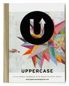 Eclectonotes. These unique notebooks are handmade with magazine make-ready. Featuring random pages from past issues of UPPERCASE magazine interspersed with lined pages, Eclectonotes are great notebooks to jumpstart your creativity!  No two are alike! The version that you receive will be a surprise.