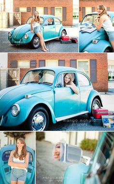 {Libby} senior portraits by Mango Mahalo Photography by Michelle Anderson. VW bug