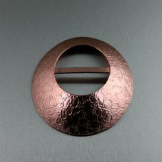 Designer Bubble Embossed Copper Scarf Ring  Highlighted by #ILoveCopperJewelry #CopperGifts #BoHo https://www.ilovecopperjewelry.com/bubble-embossed-copper-scarf-ring.html