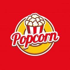Popcorn logo badge with illustration of popcorn in bucket Popcorn Logo, Popcorn Posters, Popcorn Puns, Cartoon Logo, Cartoon Posters, Logo Sticker, Sticker Design, Cricket Poster, Logan
