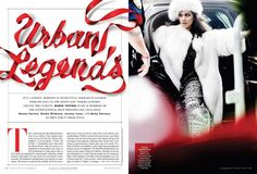 Ribbon lettering by Alex Trochut Editorial Layout, Editorial Design, Mario Testino, Typography, Lettering, Print Layout, Urban Legends, Vanity Fair, Design Inspiration