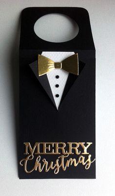 Tag christmas tuxedo suit bowtie golden scripty  Merry christmas IO Impression Obsession - JKE