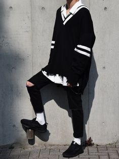Stunning mens fashion trends - Men's fashion, style shapes and clothing tips Edgy Outfits, Korean Outfits, Grunge Outfits, Girl Outfits, Fashion Outfits, Fashion Edgy, Fashion Boots, Street Fashion, Fashion Trends