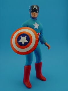 Mego Captain America One of my favorites! Retro Toys, Vintage Toys, Swing Out Sister, Classic Toys, Old Toys, Gi Joe, Toy Store, Comic Character, Super Powers