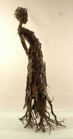 I chose this image because it was eye grabbing. I love the emotion behind this piece and how it is made out of sticks. There is so much character and originality to this piece of art and I admire the work.