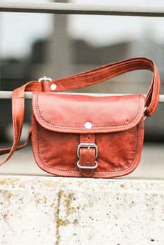 """With """"Mary XXS"""" by your side, nothing can go wrong. This little handbag, made from quality goat's leather impresses with her trendy vintage-retro style."""