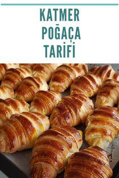 Katmer Poğaça TARİFİ Hot Dog Buns, Hot Dogs, Sausage, Brot, Pies, Sausages