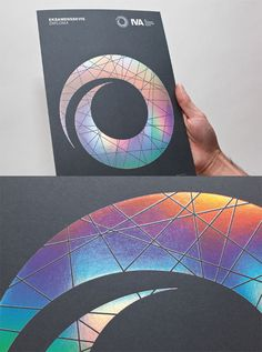 Showcase of Creative Print Designs with Hot Foil Stamping Holographic Print, Holographic Foil, Graphic Design Layouts, Brochure Design, Identity Design, Brand Identity, Photographer Business Cards, Stamp Printing, Book Printing