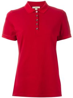 Burberry Check Trim Stretch Cotton Piqué Polo Shirt ( Size S) Red Polo Shirt, Polo Shirt Women, Pique Polo Shirt, Burberry Classic, Burberry Brit, Red Shorts, Short Sleeve Polo Shirts, Size Clothing, Cool Outfits