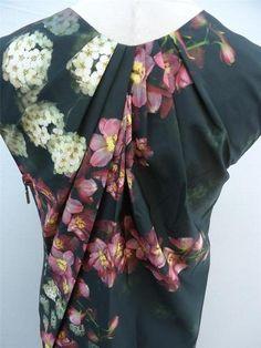 Vera Wang Womens Asymmetrical Pink Flowers Taffeta Dress DN84 in Charcoal Size 4 | eBay