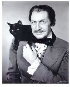 Men with cats. Vincent Price with black cat. Friday The 13th Memes, Happy Friday The 13th, Funny Friday, Quotes Friday, Vincent Price, Crazy Cat Lady, Crazy Cats, Celebrities With Cats, Celebs