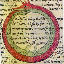 The ouroboros is an ancient symbol that depicts a serpent eating its own tail. The earliest record of the ouroboros was found in the 1600 BC in ancient Egypt. Magnum Opus, Eternal Return, Dream Symbols, I Choose Life, Serpent, Diy Tattoo, Tattoo Ideas, Infinity Symbol, Ancient Symbols