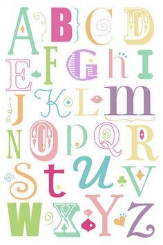 """Alphabet Pink"" - Caroline Moore"