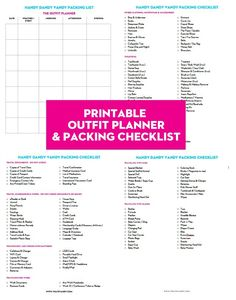 {Free Printable} Outfit Planner & Packing List