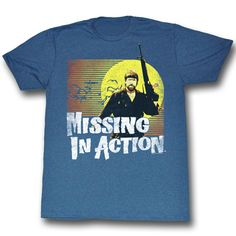 Missing In Action Shirt In the Air Adult Heather Blue Tee T-Shirt Missing In Action Shirts Missing In Action Shirt In the Air Adult Heather Blue Tee
