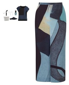 """""""Jigsaw - Deconstructed Typo Wrap Skirt Style"""" by twinklebluegem on Polyvore featuring Jigsaw, MM6 Maison Margiela, A Weathered Penny, Deborah Lippmann and The Row"""
