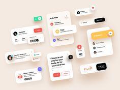 Design Elements _UI Kit designed by Brandi. Connect with them on Dribbble; Site Web Design, App Ui Design, Interface Design, User Interface, Brochure Design, Design Design, Design Ideas, Desktop Design, Ui Components