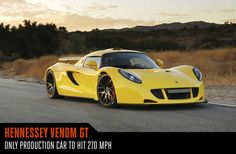 You may never need to travel more than 270 miles per hour in a car, but it's good to know you could. The Hennessey Venom GT was clocked going that fast in 2014 on the 3.2-mile space shuttle runway at Cape Canaveral, Florida, making it the fastest production car around. The owners of the Venom GT have experienced that raw power firsthand, but it's a small group (i.e. Steven Tyler), as it takes six months to build one and only 11 have ever been built. With horsepower at 1,244 bhp and torque at…