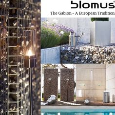 Gabion Garden Architecture - Bringing a European Tradition Home with #blomus