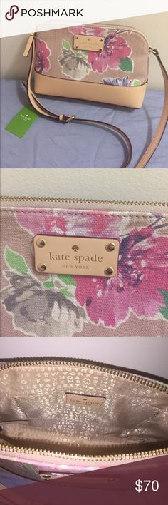 Kate Spade Hanna crossbody bag. Kate Spade Hanna Wellesley floral crossbody bag in excellent condition. I only went out once with it. It's a great Summer/Spring bag to go along with a cute outfit! kate spade Bags Crossbody Bags