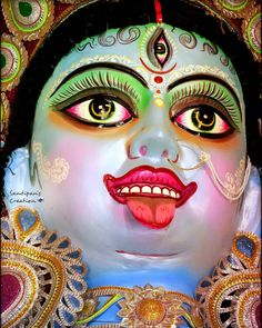 The very magnificent Maa Shyama Kaali of Aiiho,Malda.Maa allowed me to capture her today.See her glamour,her eyes and… Kali Ma, Kali Goddess, Durga, Halloween Face Makeup, Lord, Glamour, Smile, Eyes, Photos