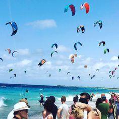 Kite boarding is hot on Bonaire!