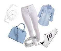 """""""sporty"""" by winfreygirl on Polyvore featuring Michael Kors, maurices, Pieces, Nixon, adidas and Worthington"""