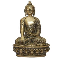 Amazon.com: Handmade Seated Buddha Statue Sculpture India Metal Sculpture Spiritual Gifts: Home & Kitchen