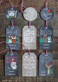 20 free printable Christmas tags