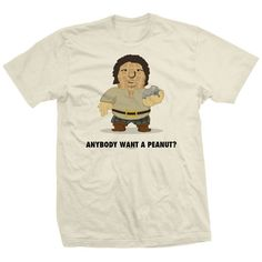 Andre The Giant T-shirts Licensed By Andre's Family - Peanut T-shirt Anybody Want A Peanut, Peanuts T Shirts, Giants Shirt, Andre The Giant, Direct To Garment Printer, Cotton Tee, Tees, Mens Tops, Clothes