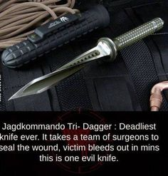 STRANGE WEAPONS - JAGDKOMMANDO - DEADLY KNIFE - VICTIM BLEEDS OUT BEFORE SURGEON CAN FIX!