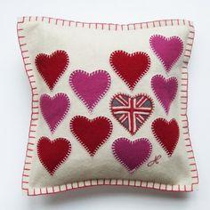 Multi Heart Cushion - Jan Constantine