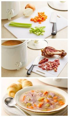 Easy Slow-Cooker Ham Bone Soup Recipe