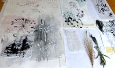 drawing and mark making with botanical tools - Ines Seidel