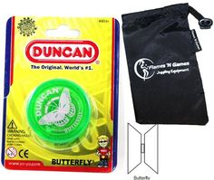 #PopularKidsToys Just Added In New Toys In Store!Read The Full Description & Reviews Here - Duncan BUTTERFLY YoYo (Green) Beginners Entry-Level Yo Yo with Travel Bag! Great YoYos For Kids and Adults! - Possibly the most popular yo-yos of all time, the Duncan Butterfly yo-yo paved the way to a new era of yo-yo shapes! The Duncan Butterfly yo-yo, first released in the 1950's, made it easier for people to land and perform more complex string tricks with its wide inward-tap