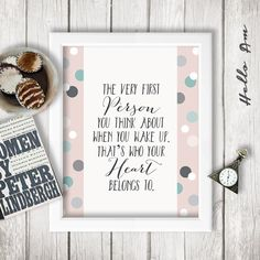 About This Wall Decor Design The Very First Person You Think When Wedding Love Quoteswedding Vow Artwedding Guest Bookquote