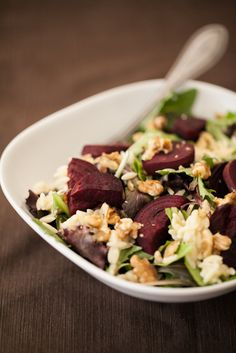 Roasted Beets, Blue Cheese Orzo, & Walnut Salad