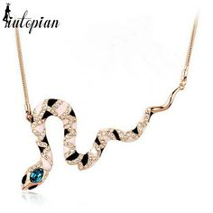 When Original Price US $22.98 Sale Price US $11.72 Iutopian New Arrival Unique Snake NECKLACE With Austrian Crystal Stellux Amazing Quality  RA00441 ing, always do something #unique_necklaces