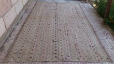 TURKİSH vintage oushak KİLİM rug    Style : area  Province : Oushak  Made In : Turkey  Foundation : cotton  Pile : 100% Wool  Colors : very nice color