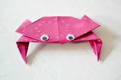 origami crabe