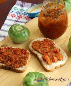 Zacuscă cu pătlăgele verzi și ciuperci Chutney, Meatloaf, Conservation, Preserves, Pickles, Sandwiches, Good Food, Food And Drink, Cooking Recipes