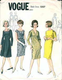 1a570b147 Super Classic 1960s Vogue Basic Dress 1357 in by NostalgieVintage