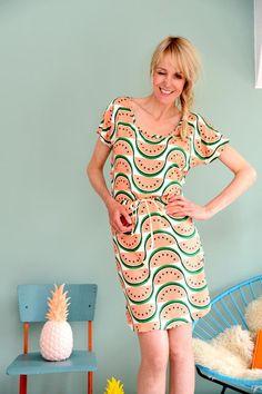 "JERSEYKLEID ""MELON DOLLAR BABY"" von Bonnie & Buttermilk auf DaWanda.com #dress #dresses #melondress  #kleid #bonnieandbuttermilk #local #localfashion #fashion #handmade #berlin #tshirt #outfit #outfitoftheday #berlin"