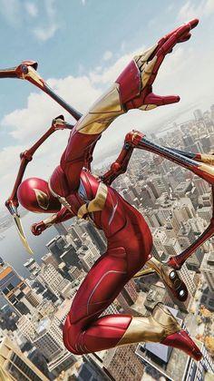 Spiderman / iron spider original nerdom marvel heroes, marvel comics, m Ms Marvel, Marvel Dc Comics, Marvel Comic Universe, Marvel Heroes, Amazing Spiderman, All Spiderman, Spiderman Suits, Spiderman Original, The Avengers