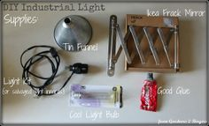 from GARDNERS 2 BERGERS: ✥ Expandable Industrial {style} Light DIY ✥
