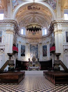 Inside view of the Cathedral of Bergamo, Italy