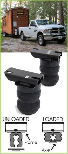 These hollow rubber springs sit above the rear axle to help stabilize and level your vehicle. They also provide a more comfortable Dodge Ram Pickup, Smooth