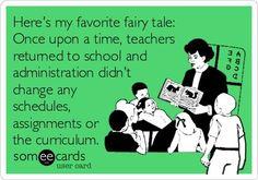 Teacher eCard - Once Upon A Time...