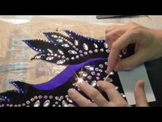 Как гусеница превращается в бабочку / декорирование купальника для художественной гимнастики - YouTube